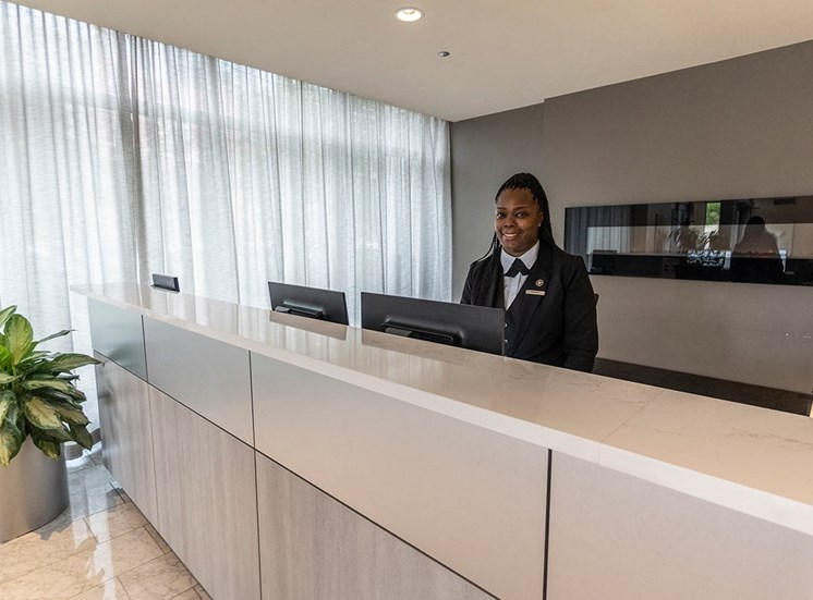 Alta at K Station's concierge in the lobby