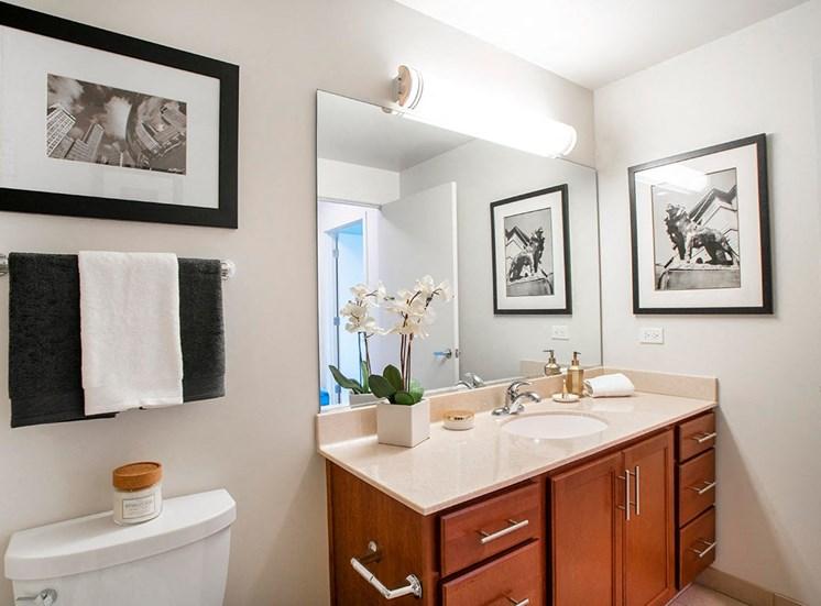 Spacious bathrooms in Alta's luxury apartments