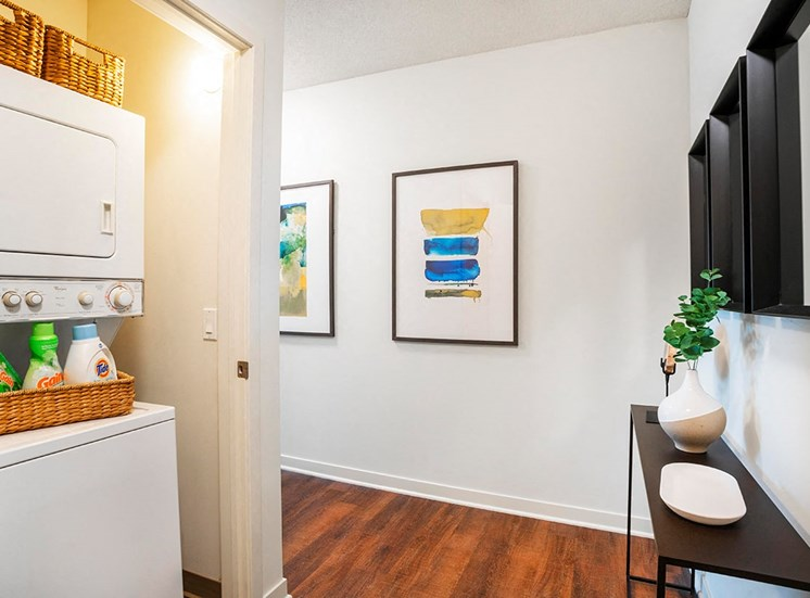Alta's luxury apartments feature in-suite washers and dryers