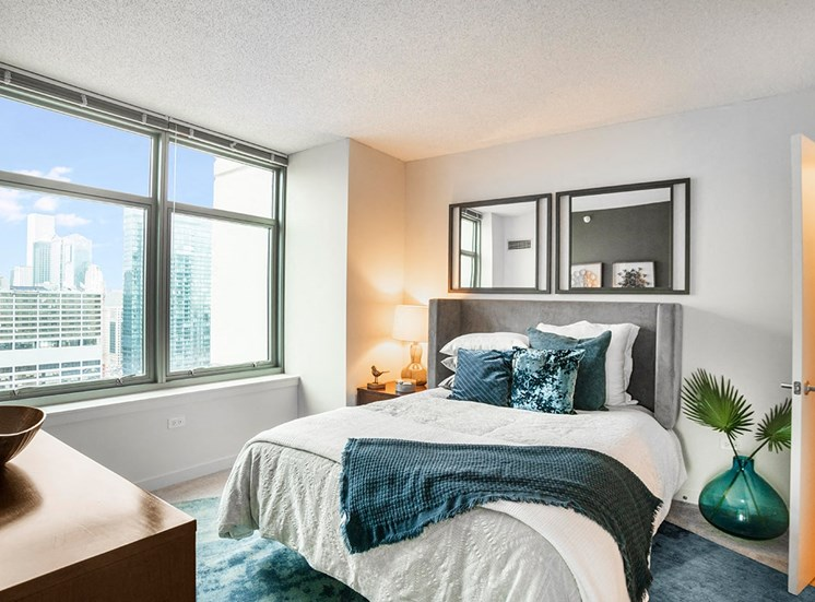 Alta's apartment bedrooms are spacious with lots of natural light