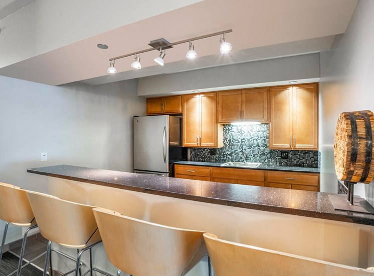 Alta's party room features a fully equipped kitchen for events