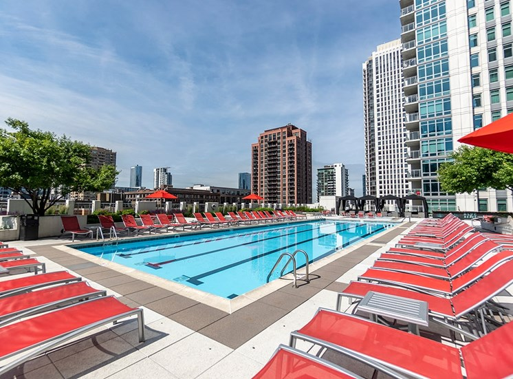 Alta at K Station's rooftop pool in Chicago