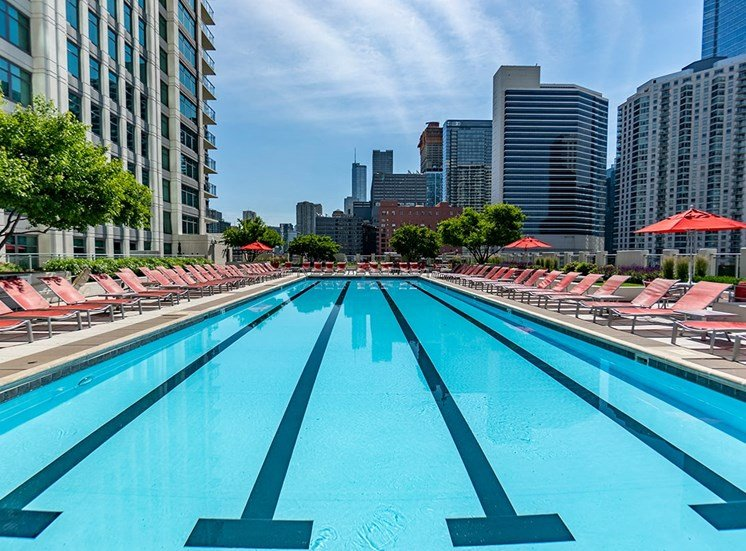 Alta at K Station's premier rooftop lap pool in Chicago