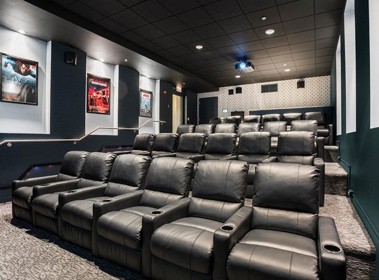 Alta's movie theater is available for private resident screenings