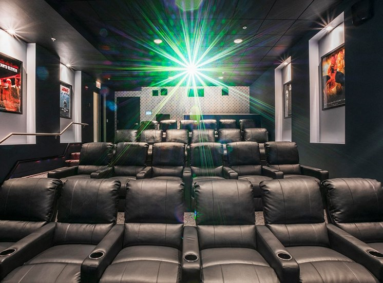 Alta's private resident screening room in Chicago