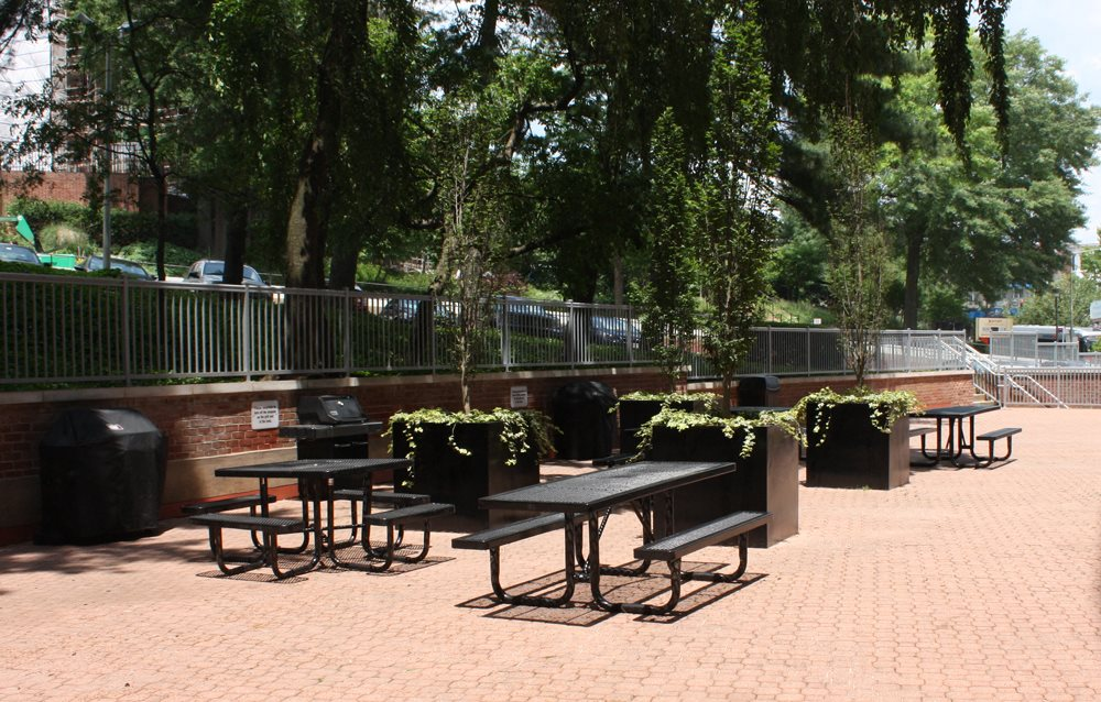 Resident Terrace for Social and BBQ at Calvert House, Woodley Park, DC