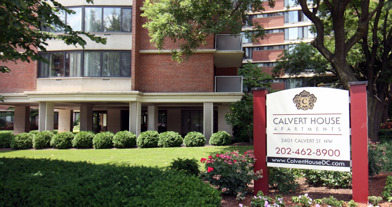 controlled access community at Calvert House Apartments, Woodley Park, Washington, DC