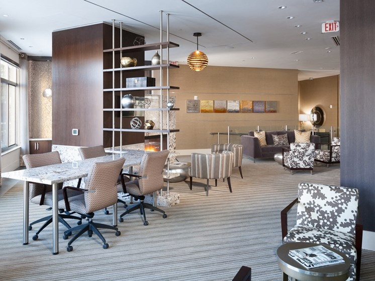 Fully Outfitted Clubhouse at Harrison at Reston Town Center, Reston, VA, 20190