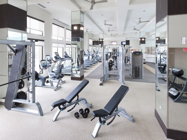 Fully Equipped Fitness Center at Harrison at Reston Town Center, Reston, VA, 20190