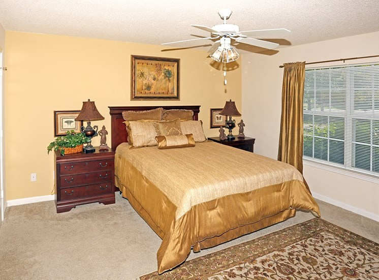 Governors Gate apartment model suite bedroom in Pensacola, Florida