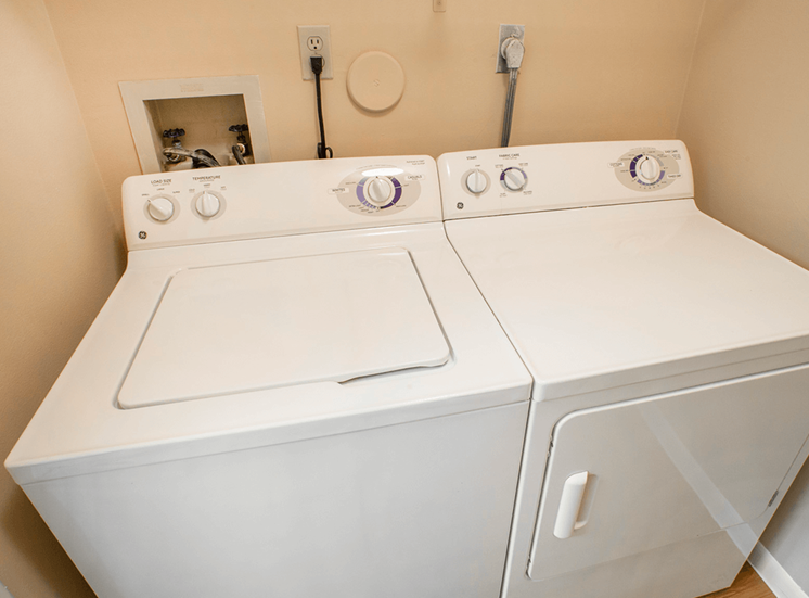 Village Crossing apartment model suite utility room in West Palm Beach, Florida