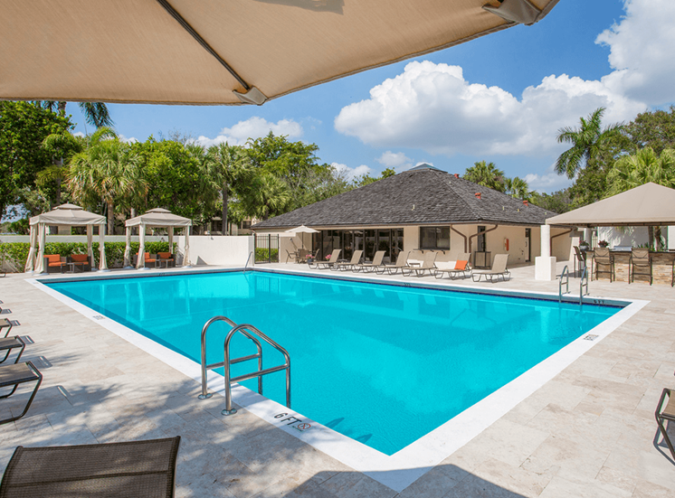 Village Crossing apartments swimming pool in West Palm Beach, Florida
