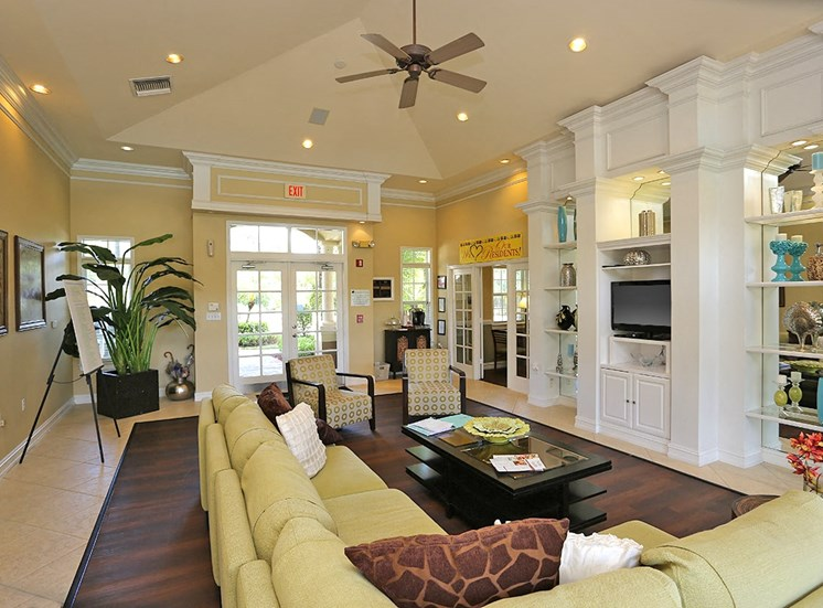 Woodbine apartments clubhouse in Riviera Beach, Florida