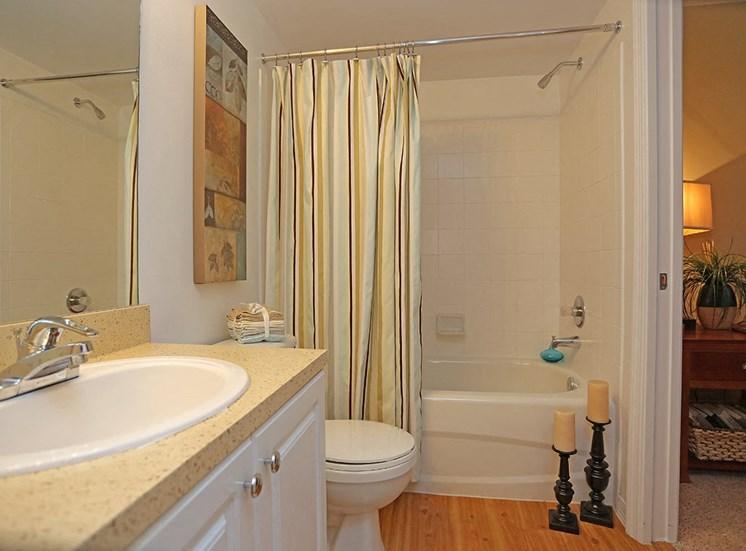 Woodbine apartment model suite bathroom in Riviera Beach, Florida