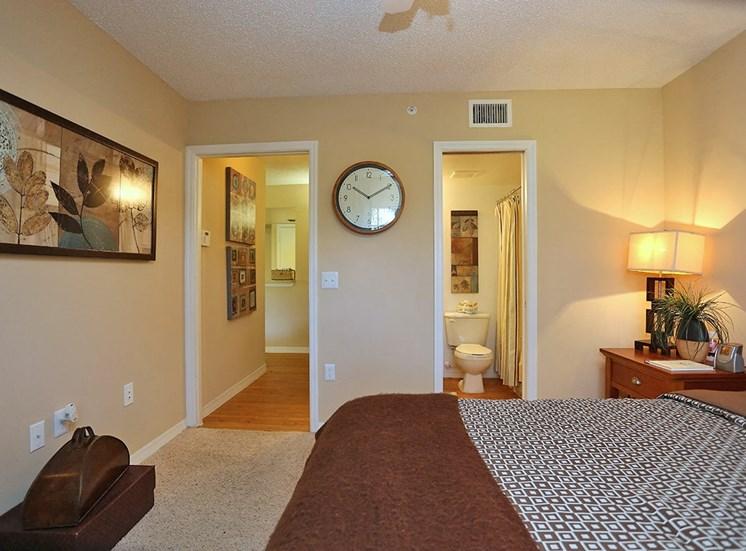 Woodbine apartment model suite bedroom in Riviera Beach, Florida