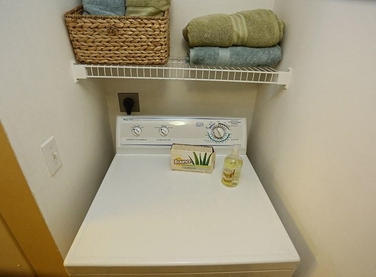 Woodbine apartment model suite utility room in Riviera Beach, Florida