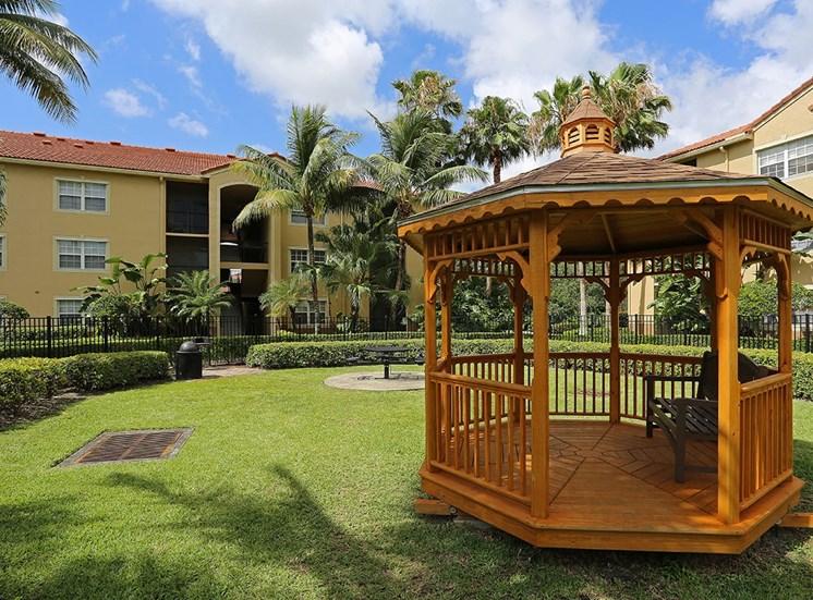 Woodbine apartments gazebo in Riviera Beach, Florida