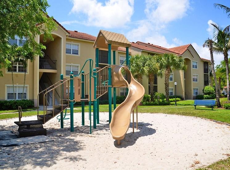 Woodbine apartments playground in Riviera Beach, Florida