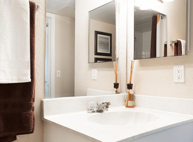 Blue Isle model suite bathroom in Coconut Creek, Florida