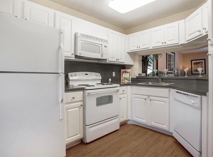 Blue Isle model suite kitchen in Coconut Creek, Florida