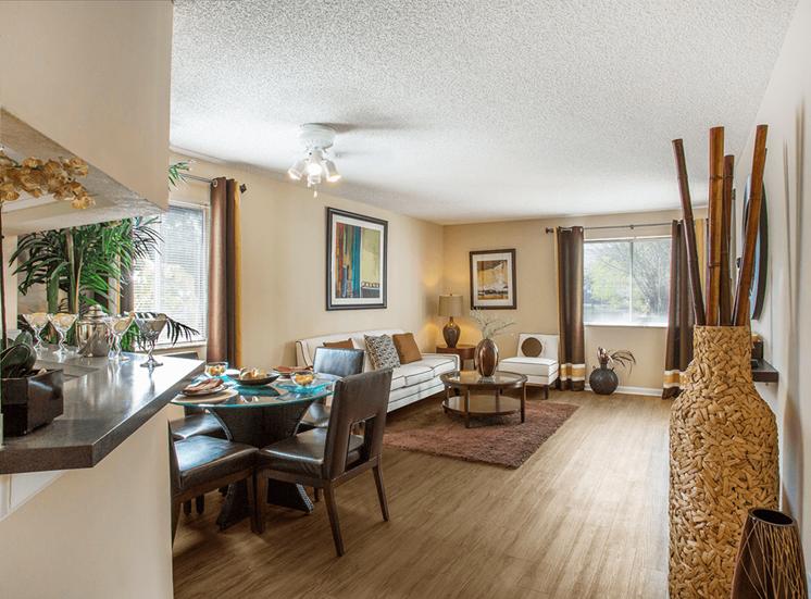 Blue Isle model suite living area in Coconut Creek, Florida