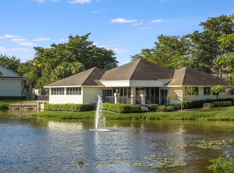 Blue Isle apartments leasing center and cyber cafe in Coconut Creek, Florida