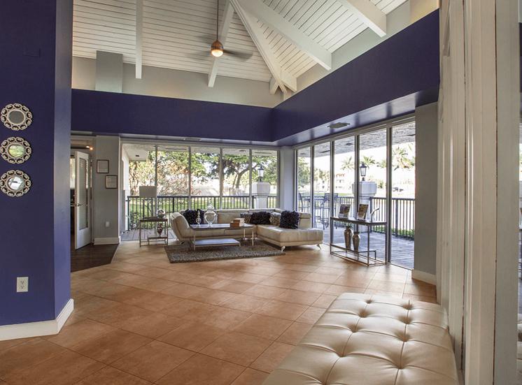 Blue Isle apartments leasing center in Coconut Creek, Florida