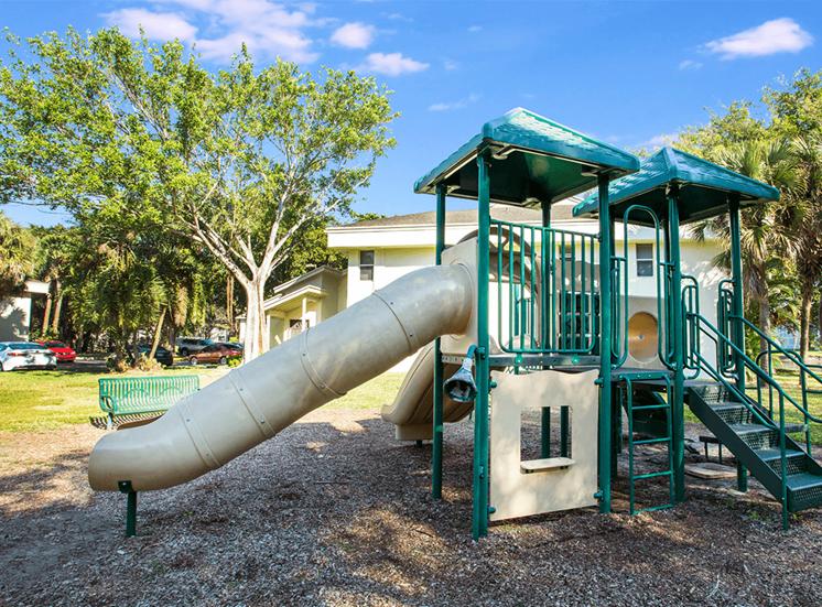 Blue Isle apartments playground in Coconut Creek, Florida