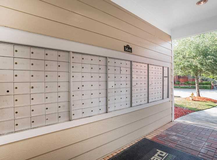 Greenbrier Estates apartments mail center in Slidell, Louisiana