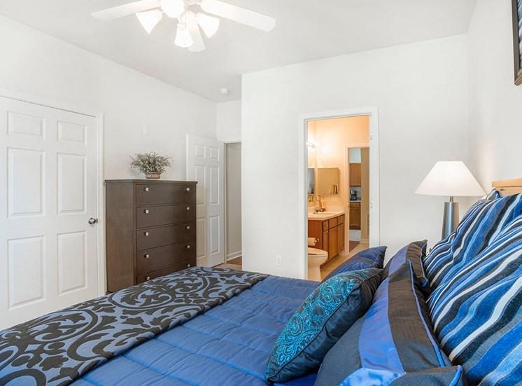 Greenbrier Estates model suite bedroom in Slidell, Louisiana
