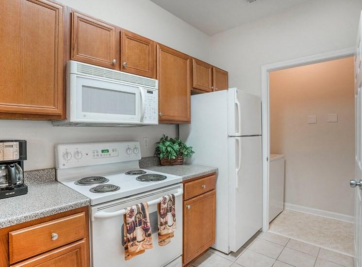 Greenbrier Estates model suite kitchen in Slidell, Louisiana