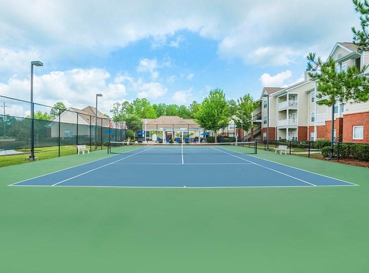 Greenbrier Estates apartments tennis court in Slidell, Louisiana