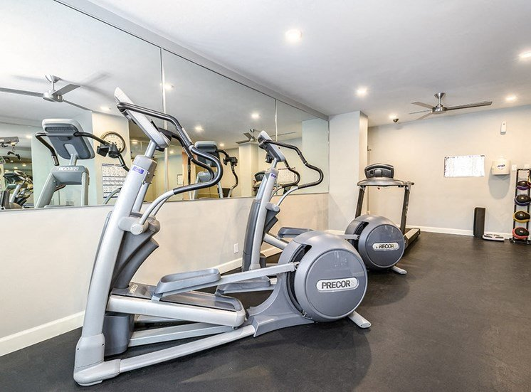 24-hour fitness center at The Georgian in Uptown New Orleans