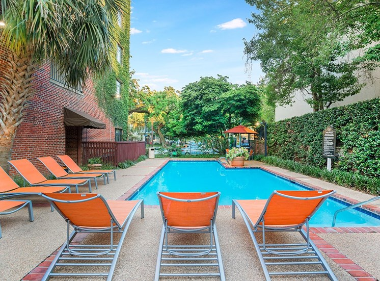 Take a dip in the private resident pool at The Georgian in New Orleans