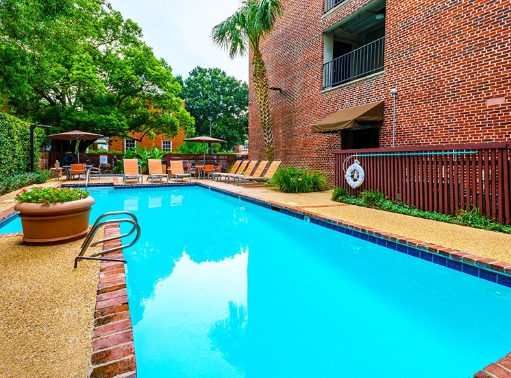 The Georgian's pool is a hidden oasis on St. Charles Avenue in NOLA