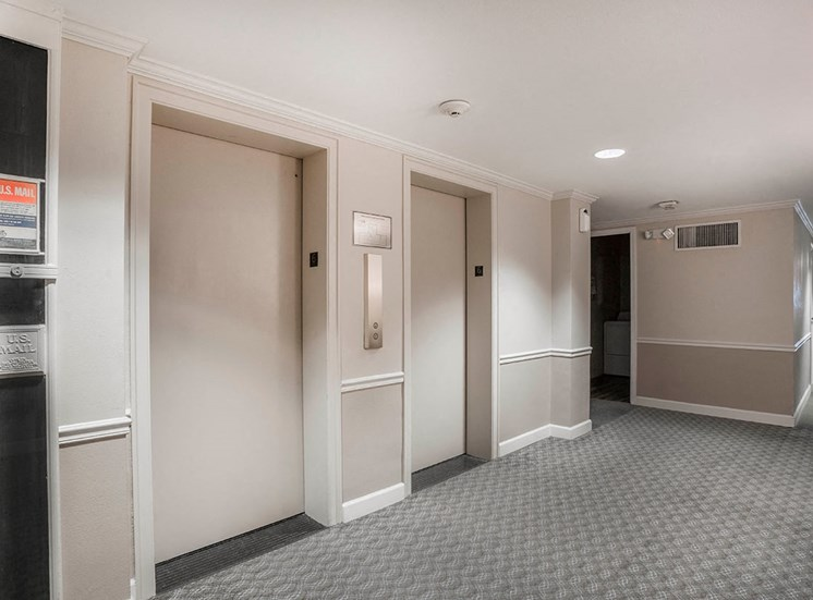 Each floor of The Georgian has a mail chute and elevators
