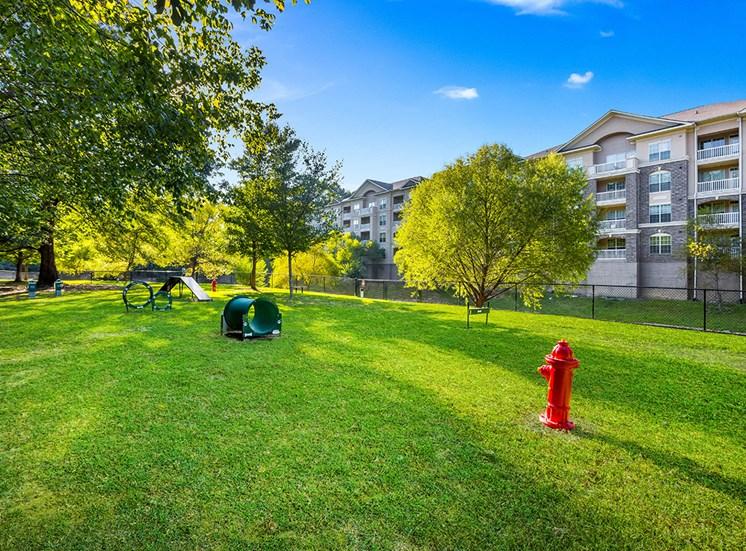 Expansive dog park at The Savoy Apartment Homes in Atlanta
