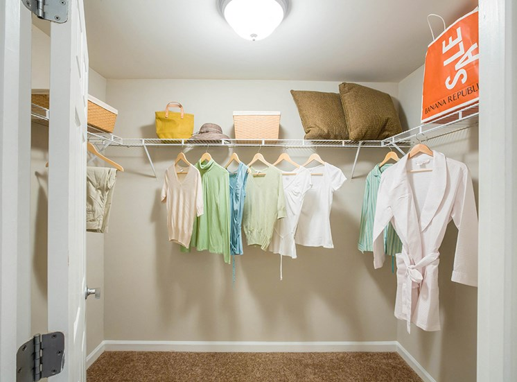 Spacious closets in apartments at The Savoy in Georgia