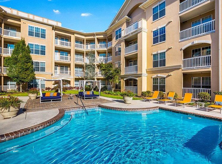 Atlanta apartment community with saltwater pool and cabanas