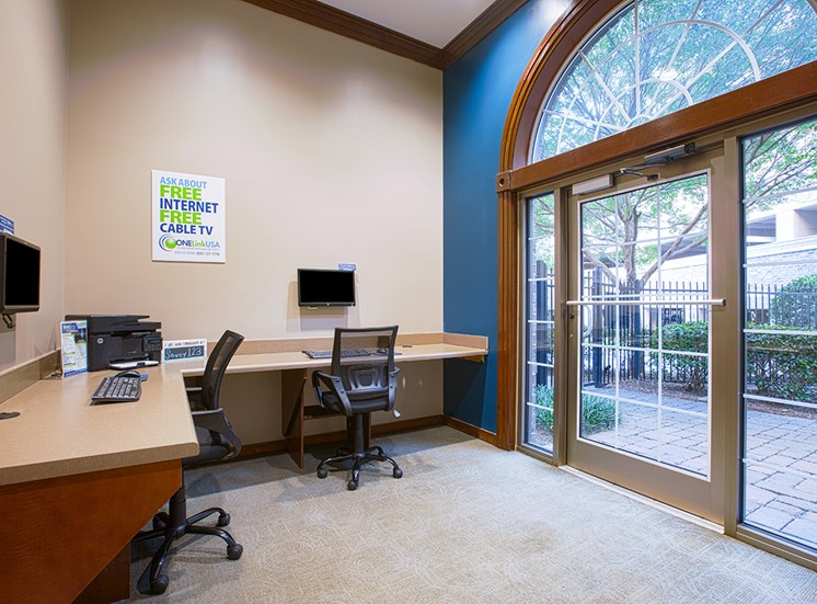 The Savoy resident business center