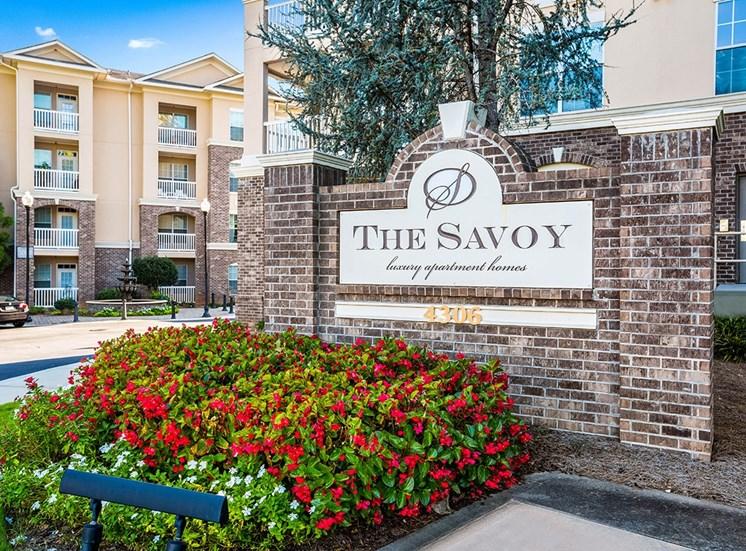 The Savoy monument sign in Atlanta, Georgia