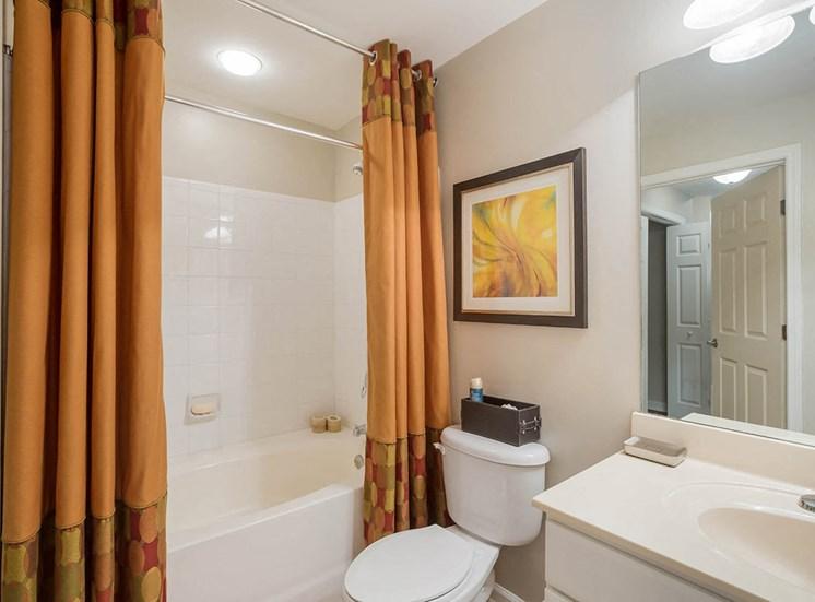 Bathtub in an apartment in Atlanta, Georgia