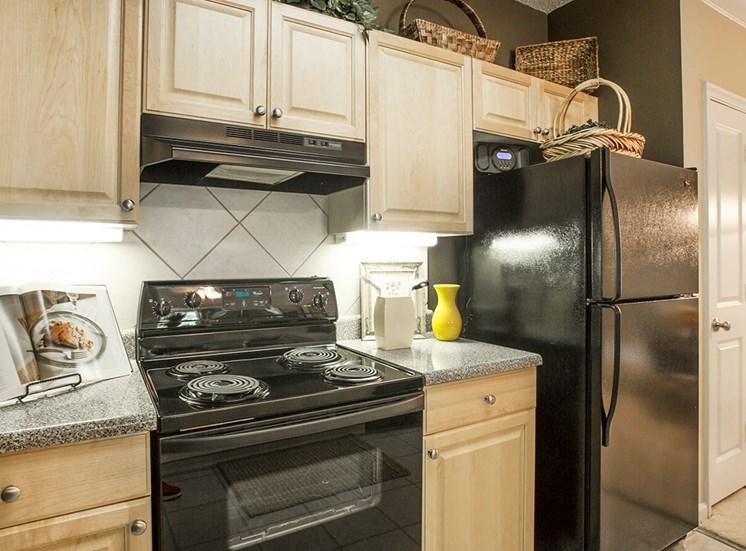 Barrett Walk model suite kitchen in Kennesaw, GA