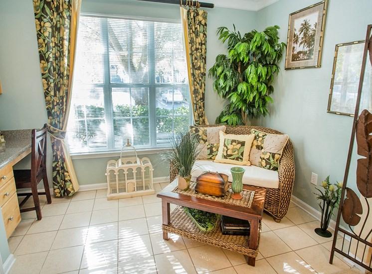 Barrett Walk model suite sunroom in Kennesaw, GA