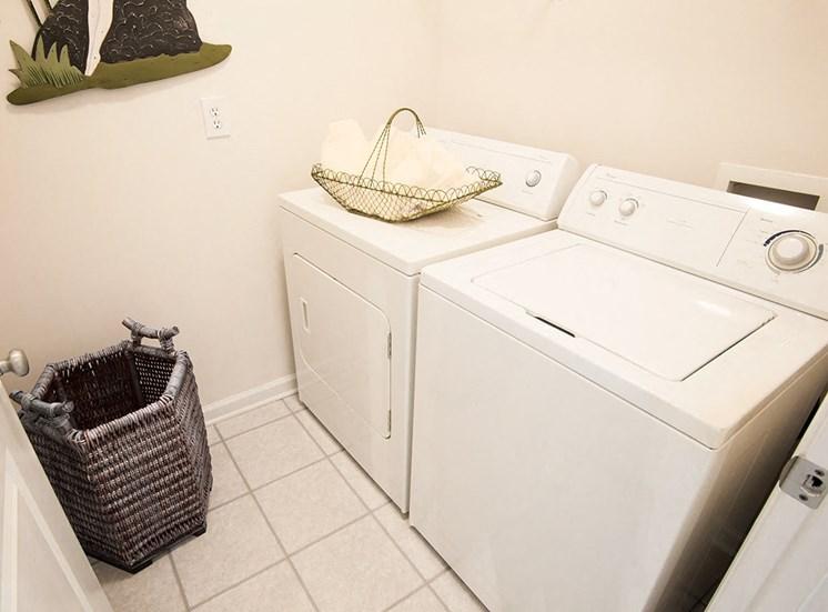 Barrett Walk model suite utility room in Kennesaw, GA