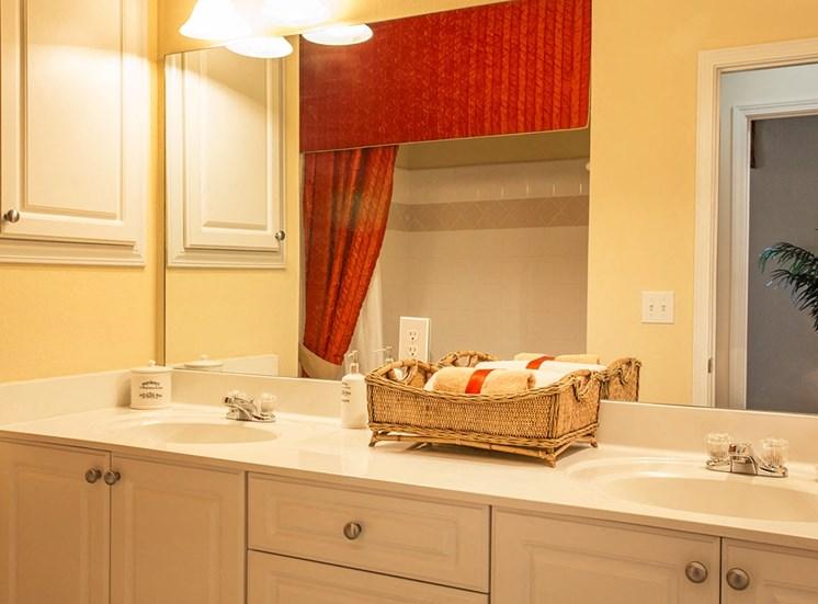 Barrett Walk model suite bathroom in Kennesaw, GA