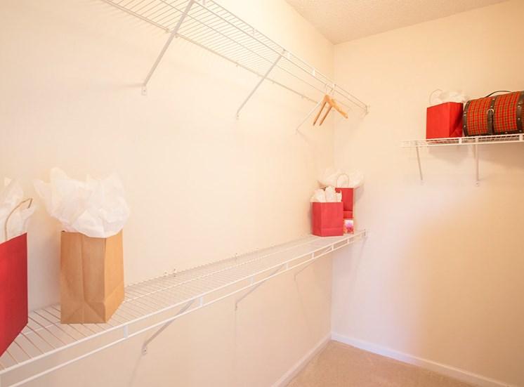 Barrett Walk model suite closet in Kennesaw, GA