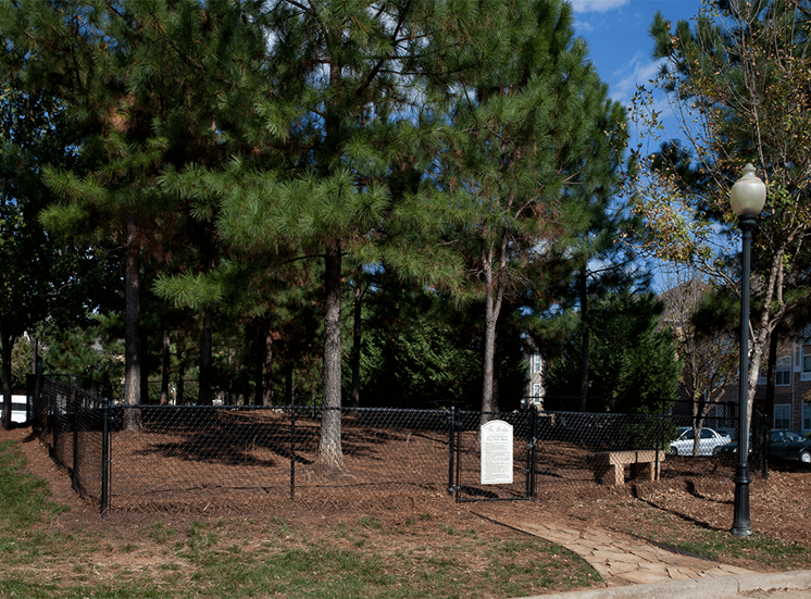 The Lodge at Crossroads apartments with dog park in Cary, North Carolina