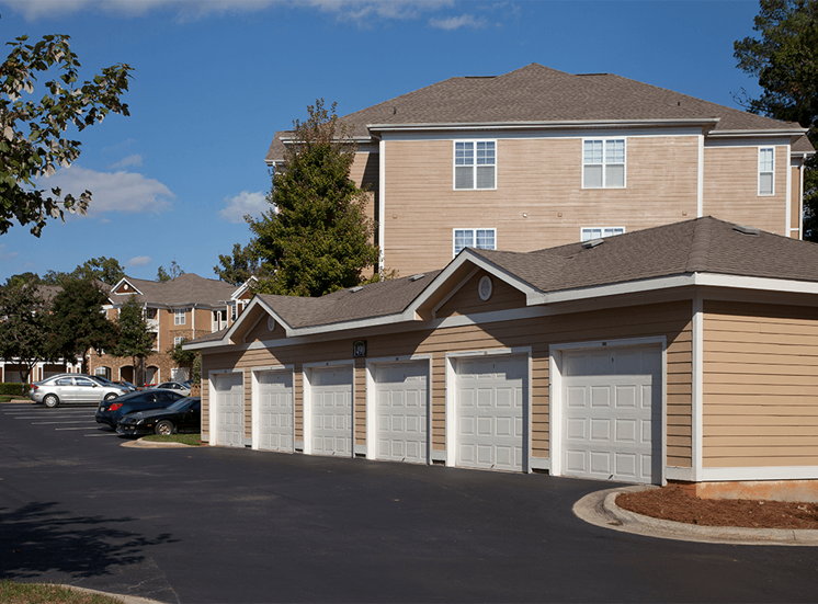 The Lodge at Crossroads apartments garages in Cary, North Carolina