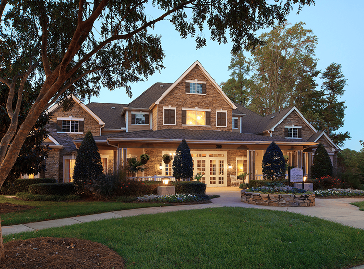 The Lodge at Crossroads apartments leasing center in Cary, North Carolina